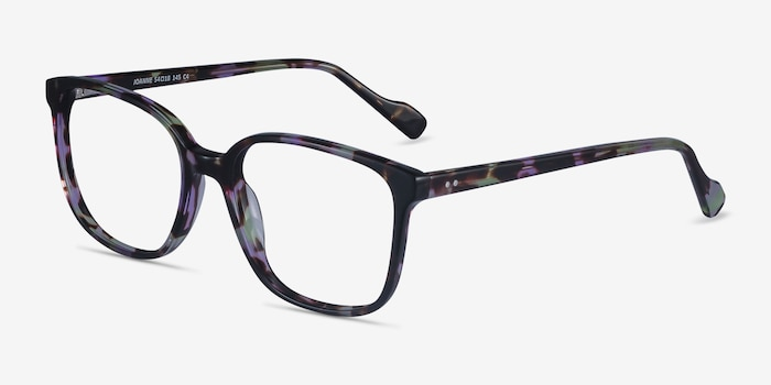 Joanne Floral Acetate Eyeglass Frames from EyeBuyDirect, Angle View