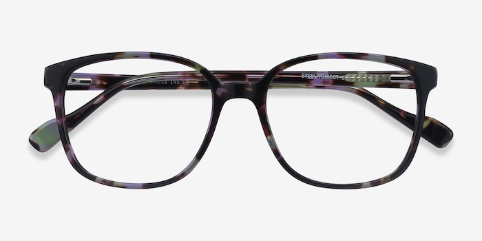Joanne Floral Acetate Eyeglass Frames from EyeBuyDirect, Closed View