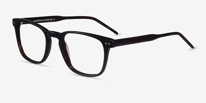 Illustrate Tortoise Acetate Eyeglass Frames from EyeBuyDirect, Angle View