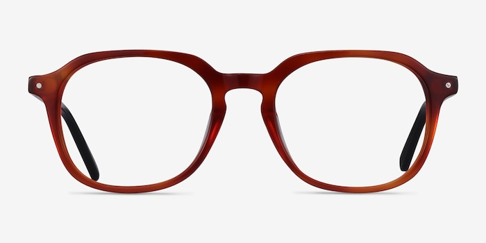 Atlantic Orange Acetate Eyeglass Frames from EyeBuyDirect, Front View