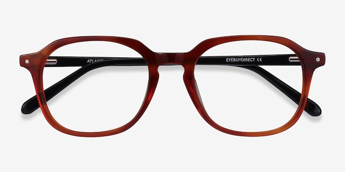 Atlantic Orange Acetate Eyeglass Frames from EyeBuyDirect, Closed View