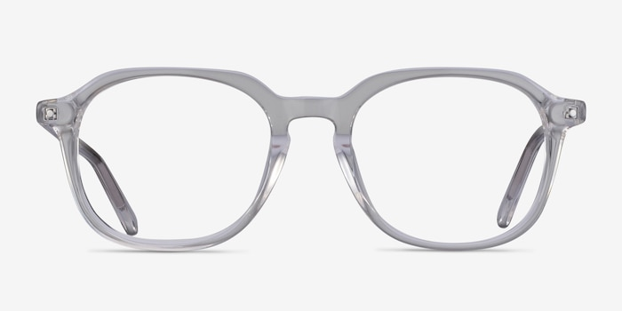 Atlantic Clear Acetate Eyeglass Frames from EyeBuyDirect, Front View