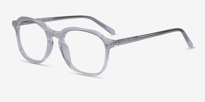 Atlantic Clear Acetate Eyeglass Frames from EyeBuyDirect, Angle View