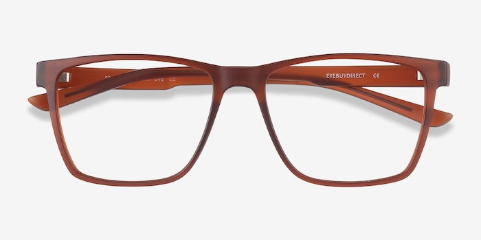 Spencer Brown Plastic Eyeglass Frames from EyeBuyDirect, Closed View