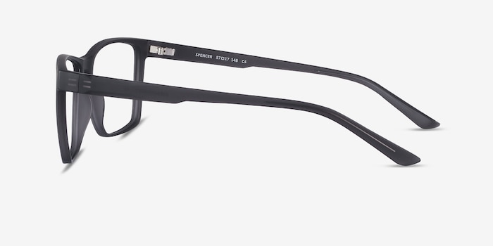 Spencer Gray Plastic Eyeglass Frames from EyeBuyDirect, Side View