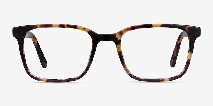 Charlie Tortoise Acetate Eyeglass Frames from EyeBuyDirect, Front View