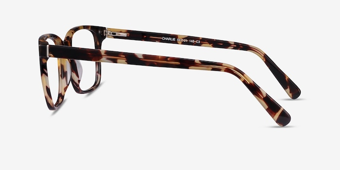 Charlie Tortoise Acetate Eyeglass Frames from EyeBuyDirect, Side View