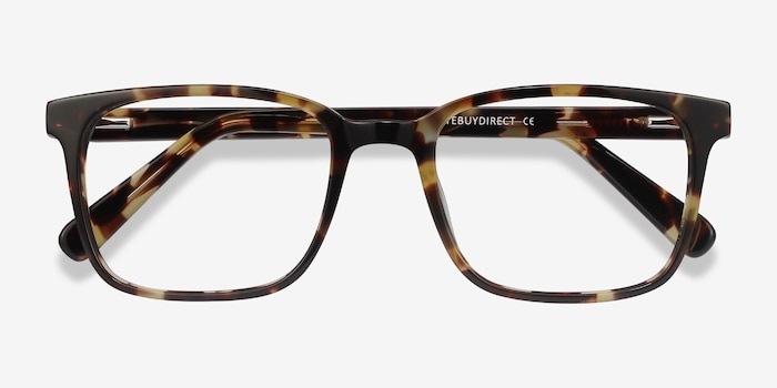 Charlie Tortoise Acetate Eyeglass Frames from EyeBuyDirect, Closed View