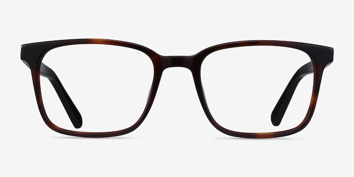 Charlie Brown Tortoise Acetate Eyeglass Frames from EyeBuyDirect, Front View