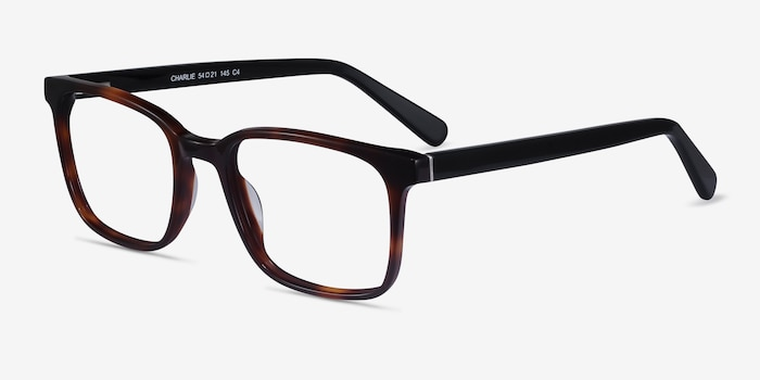 Charlie Brown Tortoise Acetate Eyeglass Frames from EyeBuyDirect, Angle View