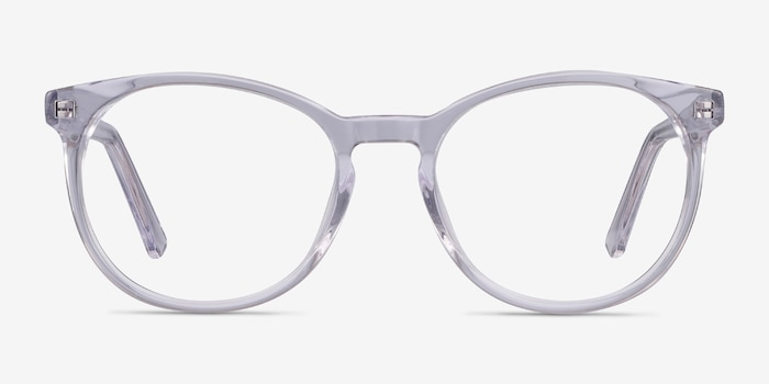 Dulce Clear Acetate Eyeglass Frames from EyeBuyDirect, Front View