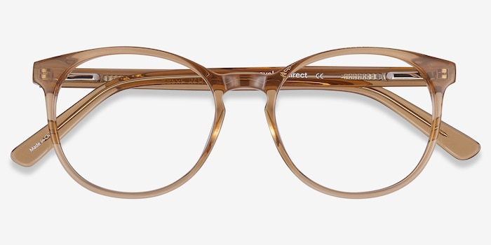 Dulce Yellow Acetate Eyeglass Frames from EyeBuyDirect, Closed View