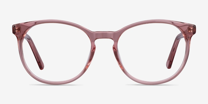 Dulce Pink Acetate Eyeglass Frames from EyeBuyDirect, Front View