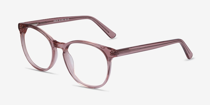 Dulce Pink Acetate Eyeglass Frames from EyeBuyDirect, Angle View