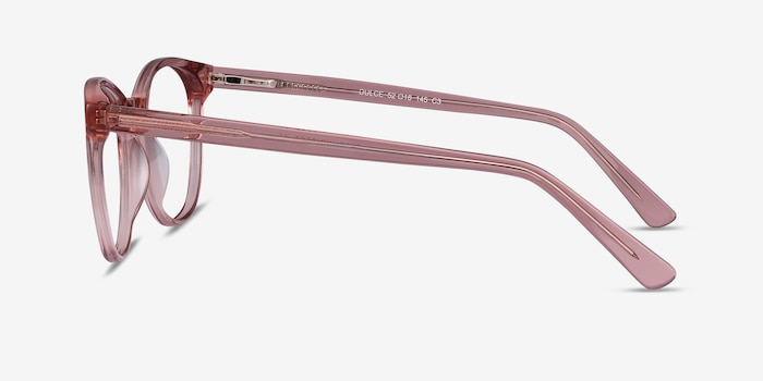 Dulce Pink Acetate Eyeglass Frames from EyeBuyDirect, Side View