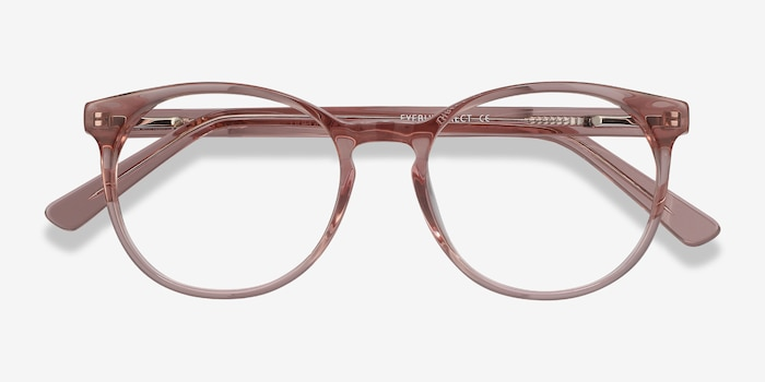 Dulce Pink Acetate Eyeglass Frames from EyeBuyDirect, Closed View