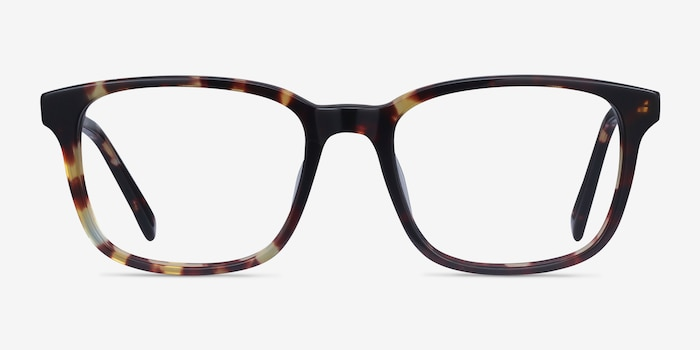 Longway Tortoise Acetate Eyeglass Frames from EyeBuyDirect, Front View
