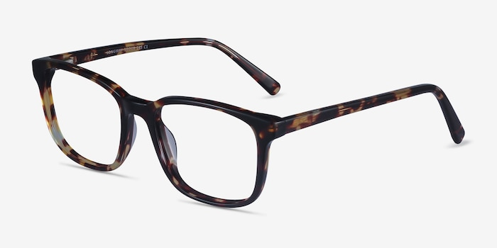 Longway Tortoise Acetate Eyeglass Frames from EyeBuyDirect, Angle View