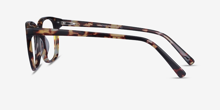 Longway Tortoise Acetate Eyeglass Frames from EyeBuyDirect, Side View