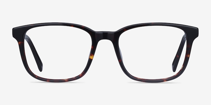 Longway Dark Tortoise Acetate Eyeglass Frames from EyeBuyDirect, Front View