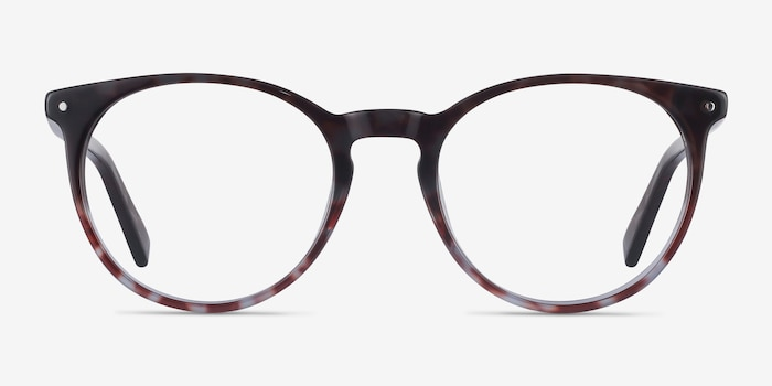 Fleury Tortoise Acetate Eyeglass Frames from EyeBuyDirect, Front View