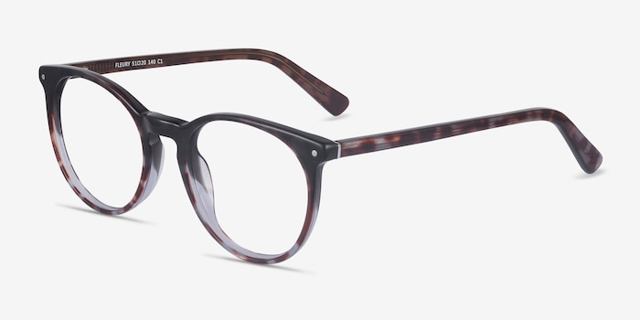 Fleury Tortoise Acetate Eyeglass Frames from EyeBuyDirect, Angle View
