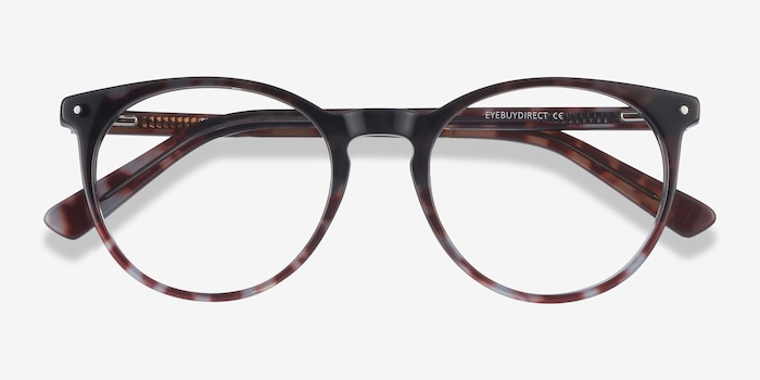 Fleury Tortoise Acetate Eyeglass Frames from EyeBuyDirect, Closed View