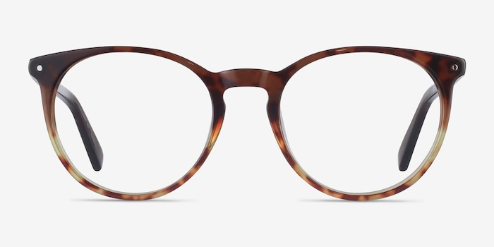 Fleury Brown Floral Acetate Eyeglass Frames from EyeBuyDirect, Front View