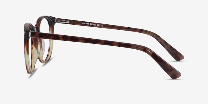 Fleury Brown Floral Acetate Eyeglass Frames from EyeBuyDirect, Side View