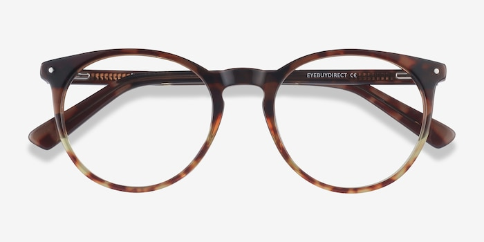 Fleury Brown Floral Acetate Eyeglass Frames from EyeBuyDirect, Closed View