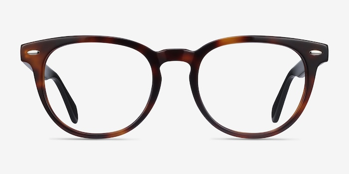 Maeby Dark Tortoise Acetate Eyeglass Frames from EyeBuyDirect, Front View