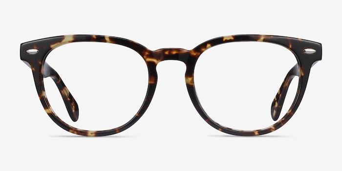 Maeby Tortoise Acetate Eyeglass Frames from EyeBuyDirect, Front View