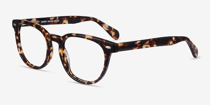 Maeby Tortoise Acetate Eyeglass Frames from EyeBuyDirect, Angle View