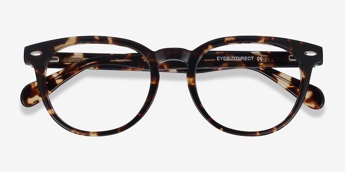 Maeby Tortoise Acetate Eyeglass Frames from EyeBuyDirect, Closed View