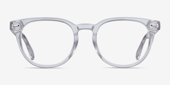Maeby Clear Acetate Eyeglass Frames from EyeBuyDirect, Front View