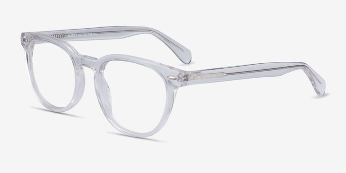 Maeby Clear Acetate Eyeglass Frames from EyeBuyDirect, Angle View