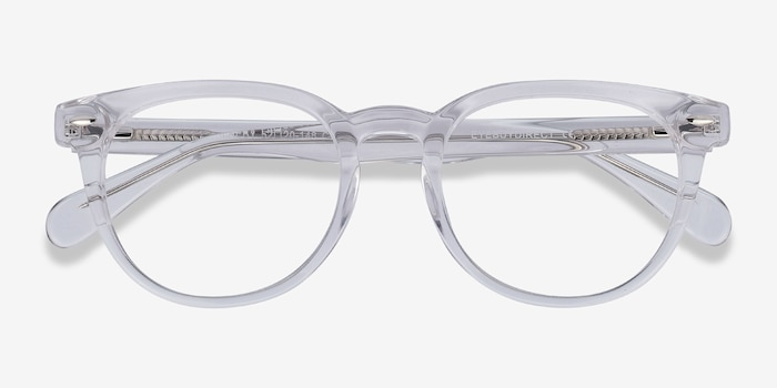 Maeby Clear Acetate Eyeglass Frames from EyeBuyDirect, Closed View