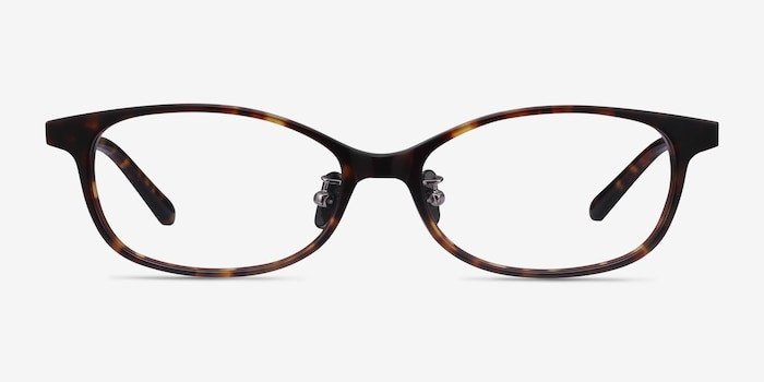 Mabel Tortoise Acetate Eyeglass Frames from EyeBuyDirect, Front View