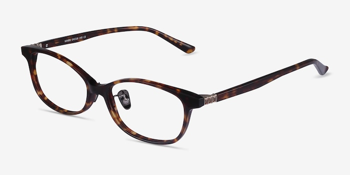 Mabel Tortoise Acetate Eyeglass Frames from EyeBuyDirect, Angle View