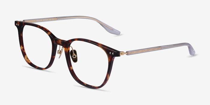 Follow Tortoise Acetate Eyeglass Frames from EyeBuyDirect, Angle View