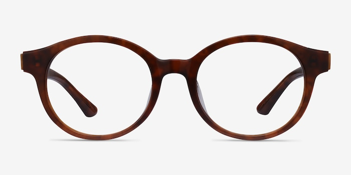 Amata Brown Acetate Eyeglass Frames from EyeBuyDirect, Front View