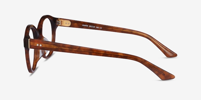 Amata Brown Acetate Eyeglass Frames from EyeBuyDirect, Side View