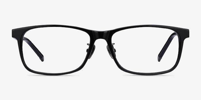 Calling Black Acetate Eyeglass Frames from EyeBuyDirect, Front View