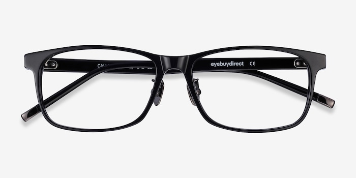Calling Black Acetate Eyeglass Frames from EyeBuyDirect, Closed View