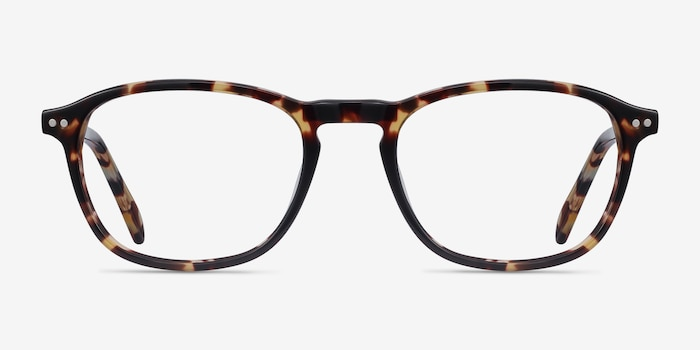 Socorro Tortoise Acetate Eyeglass Frames from EyeBuyDirect, Front View