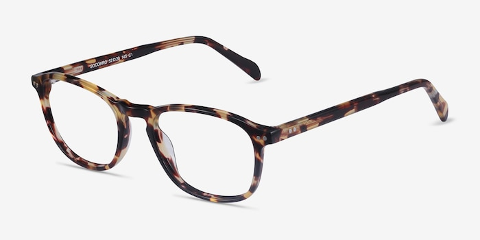 Socorro Tortoise Acetate Eyeglass Frames from EyeBuyDirect, Angle View
