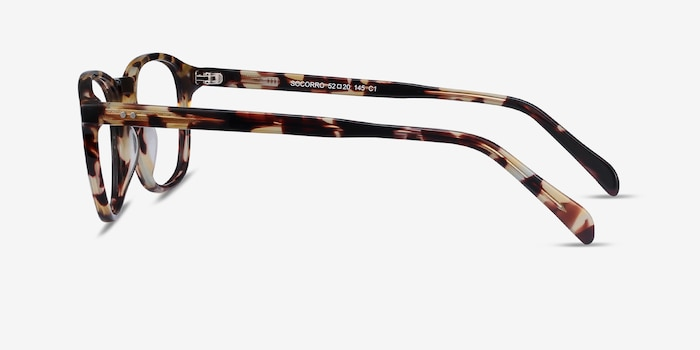 Socorro Tortoise Acetate Eyeglass Frames from EyeBuyDirect, Side View
