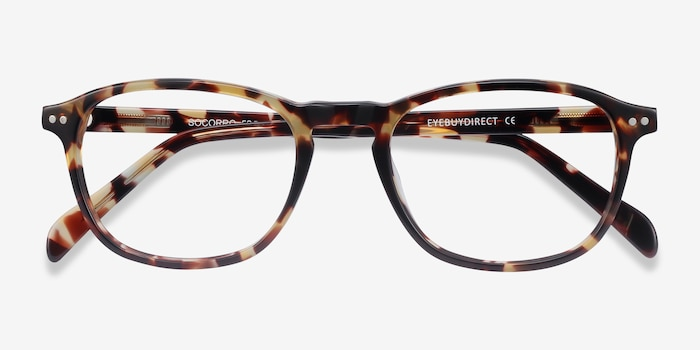 Socorro Tortoise Acetate Eyeglass Frames from EyeBuyDirect, Closed View