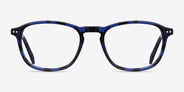 Socorro Blue Tortoise Acetate Eyeglass Frames from EyeBuyDirect, Front View
