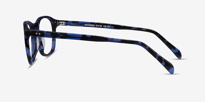 Socorro Blue Tortoise Acetate Eyeglass Frames from EyeBuyDirect, Side View